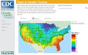 CDC's Climate & Health Heat Tracker tool screenshot