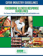 CIFOR Foodborne Illness Response Guidelines cover