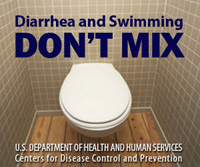 Ad for Medscape: Diarrhea and Swimming Don't Mix.