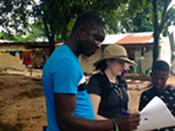 CDC Epidemic Intelligence Service Officer Dr. Katharine Benedict (CDC; EIS 2015) assists with Ebola prevention efforts in Sierra Leone, 2015.