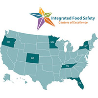 The Food Safety Office manages the Integrated Food Safety Centers of Excellence, a program established by FSMA that provides assistance and training to state and local health departments to build their capacity to track and investigate foodborne disease.