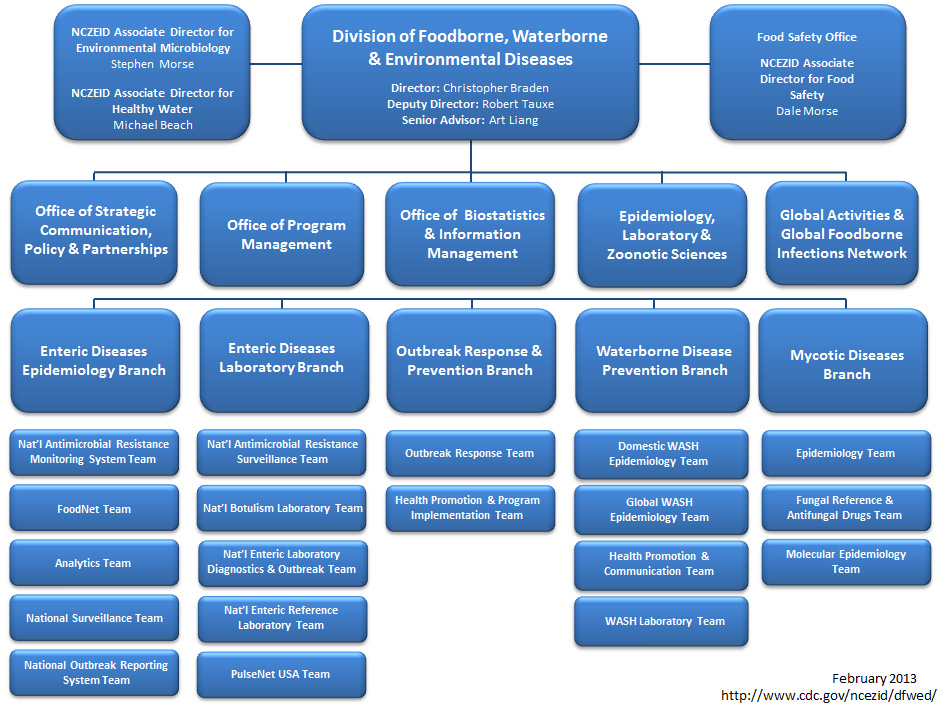 Division of Foodborne, Waterborne, and Environmental Diseases - Organizational Chart