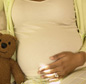 Pregnant Lady and teddy bear
