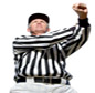 Photo: Football Official making personal foul signal