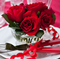 Valentines Dinner with roses