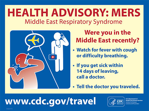 Health Advisory: Middle East Respiratory Syndrome (MERS).