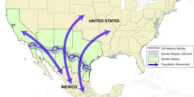 Map Of Arizona California Border.Fact Sheet United States Mexico Health Dgmq Cdc