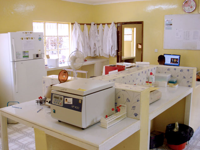 The lab, which contains state of the art equipment to better diagnose common pathogens.
