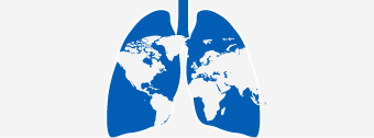 graphic of globe in the shape of lungs