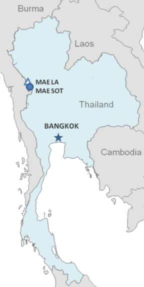 mae sot processing center for u s bound refugees map of thailand