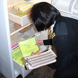 Than Lerner inspects drugs stored at CDCs Seattle Quarantine Station.