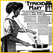 "Newspaper article - ""Typhoid Mary"" article from the early 1900s"