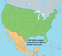 United States - Mexico Unit | DGMQ | NCEZID | CDC  |What Two States Border Mexico