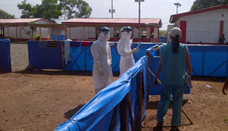 Image of an Ebola medical camp.