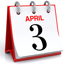 Icon showing calendar date for April 3