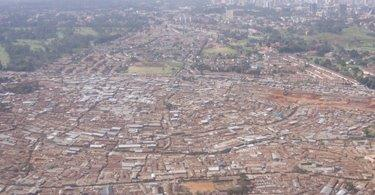Airshot picture of Kibera