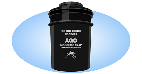 Graphic of a mosquito trap designed by CDC researchers.