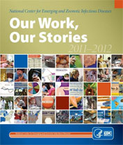 Cover of report titled 'Our Work, Our Stories.'