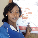 Nurse Okusanya Abiola, infection prevention and control training participant