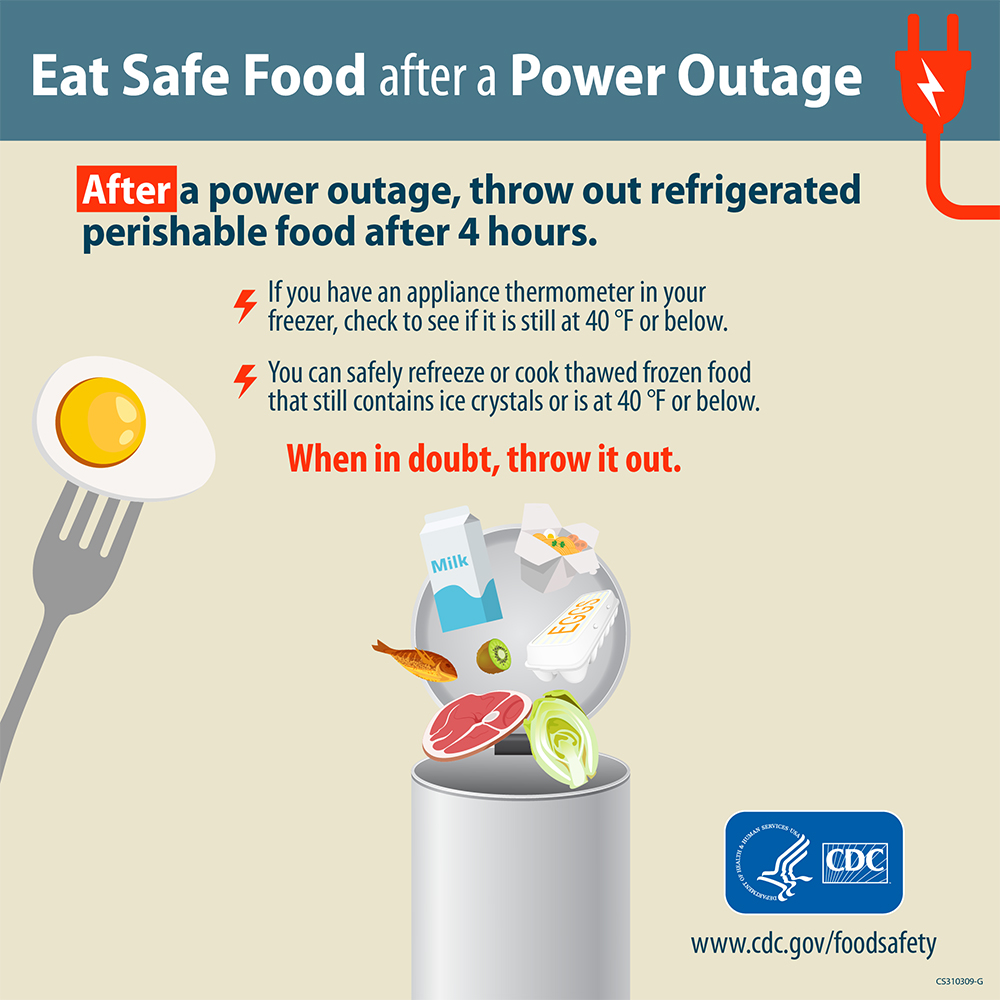 Eat Safe Food after a Power Outage infographic