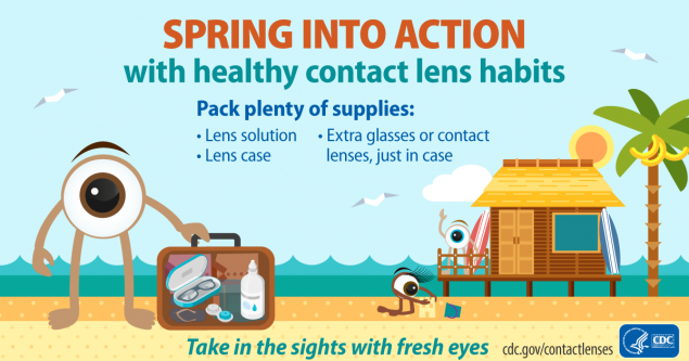 Illustration for Spring Into Action with healthy contact lens habits