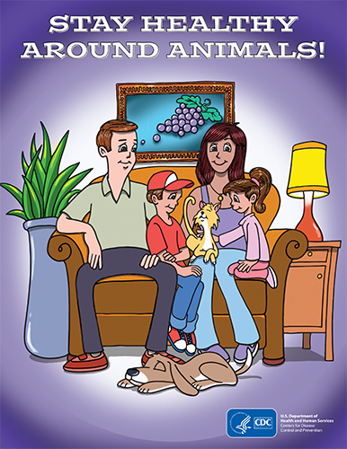 Stay Healthy Around Animals! Coloring Book