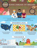 Thumbnail image of Investigating Food Disease Outbreaks infographic
