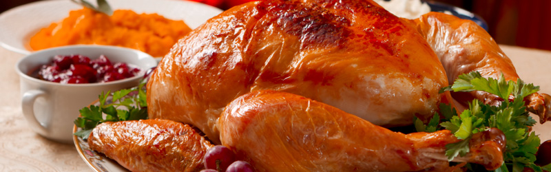 Image of roasted turkey with sides