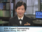 Screenshot of Dr. Karen Wong in medscape commentary New cholera vaccine for adult travelers