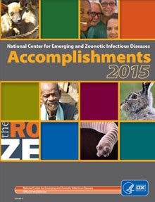 Cover of NCEZID Work and Accomplishments 2015