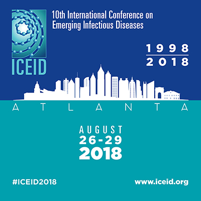 illustration of atlanta city line with 10th International Conference on Emerging Infectious Diseases 1998-2018 August 26-29, 2018 www.iceid.org