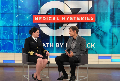 Dr. Casey Barton Behravesh speaks with television's Dr. Oz on his show