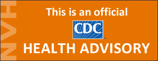 orange background with words This is an official CDC health advisory