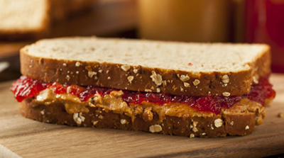 soy nut butter and jelly sandwich