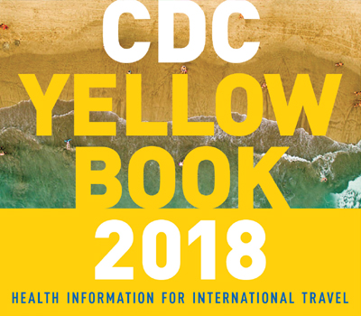 Cropped image of the CDC Yellow book 2018 cover