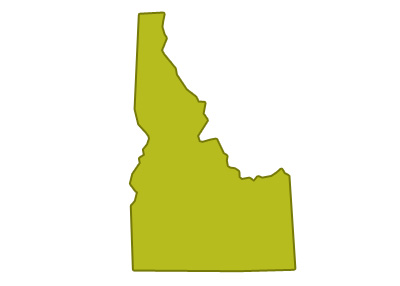 outline of idaho