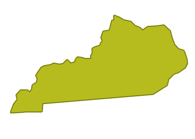 outline of kentucky