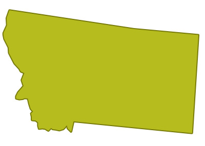 outline of montana