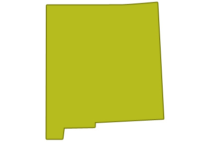 outline of new mexico