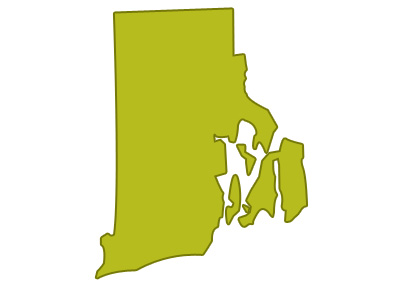 outline of rhode island