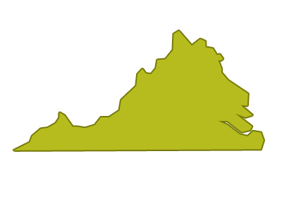 outline of virginia