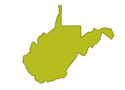 outline of west virginia