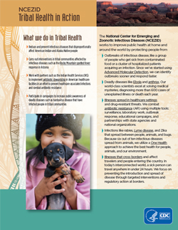 Thumbnail image of cover to PDF version of Tribal Health in Action