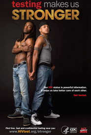 Our HIV status is powerful information. It helps us take better care of each other. Get tested.