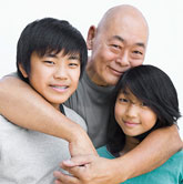 photo of an asian family