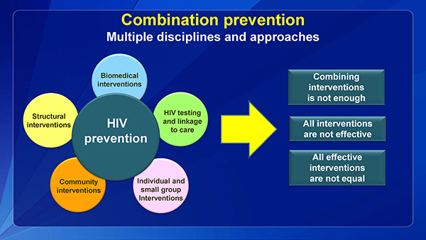 Combination preventionMultiple disciplines and approaches
