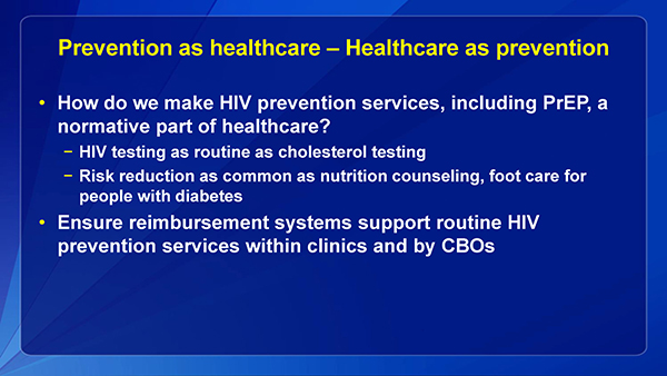 Prevention as healthcare – Healthcare as prevention