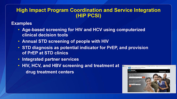 High Impact Program Coordination and Service Integration (HIP PCSI)