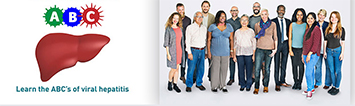 May is Hepatitis Awareness Month - ABC. Learn the ABCs of viral hepatitis; Large group of diverse people