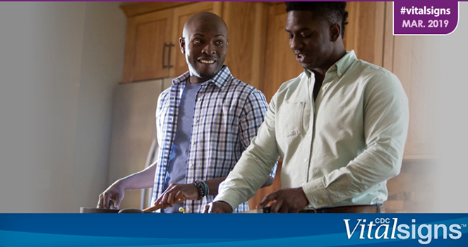 Ending the HIV Epidemic HIV Treatment Is Prevention; Two men cook together